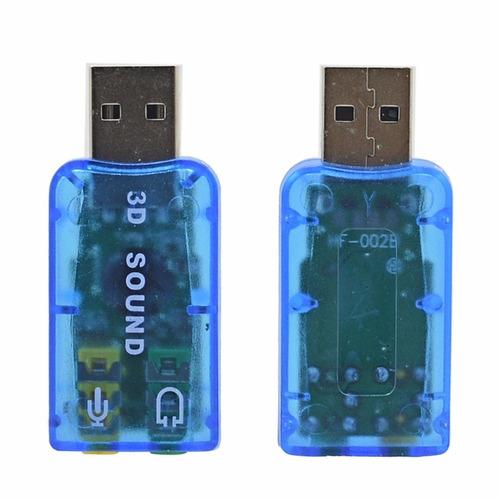 tarjeta de sonido externo usb 5.1 - canales para pc - laptop
