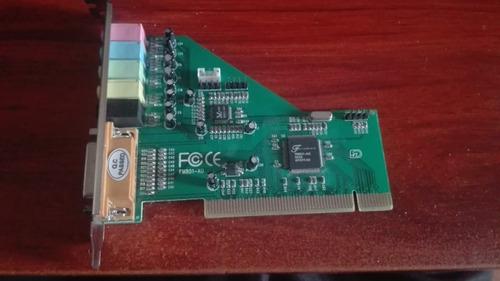 tarjeta de sonido fortemedia fm801-au (pci 8x)