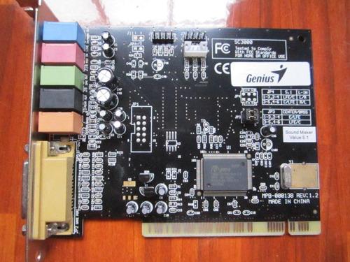 tarjeta de sonido genius 5.1 para cualquier sistemas