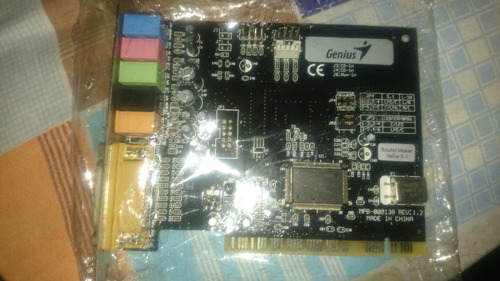 tarjeta de sonido genius sound maker value 5.1 buen estado