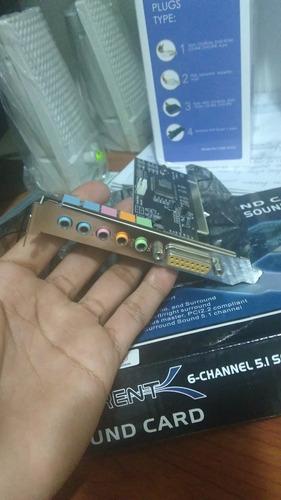 tarjeta de sonido pci 5.1 3d sabrent sb
