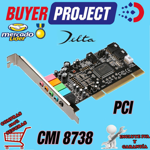 tarjeta de sonido pci 5.1 cmi8738 6ch low profile + drivers