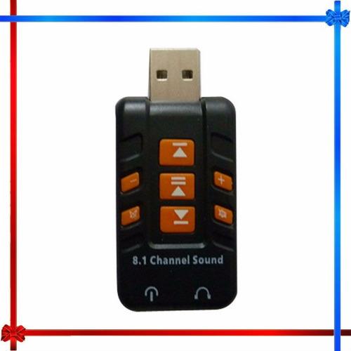 tarjeta de sonido usb 8.1 pc portatil