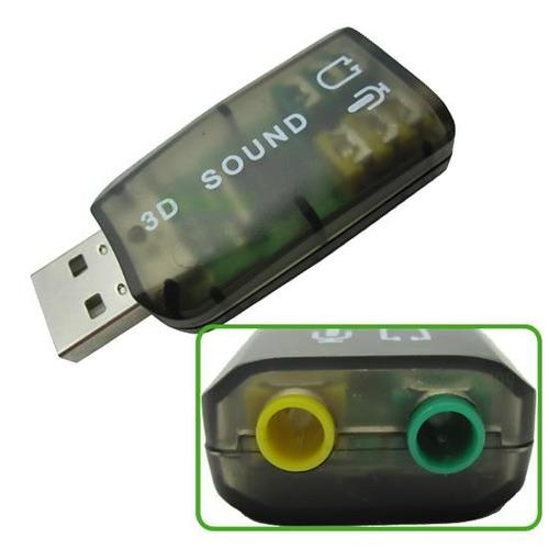 tarjeta de sonido usb audio 5.1 canales 3d