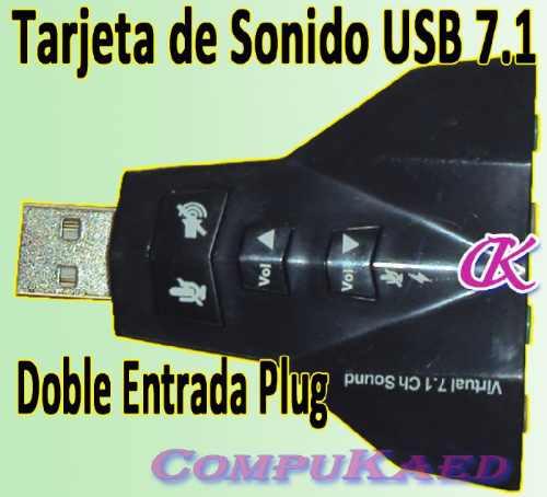 tarjeta de sonido usb de sistema dual 7.1, ideal para dj's