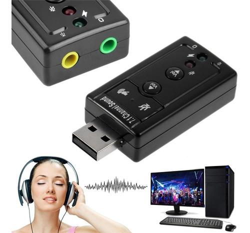 tarjeta de sonido usb para parlante micrófono jack 3.5mm