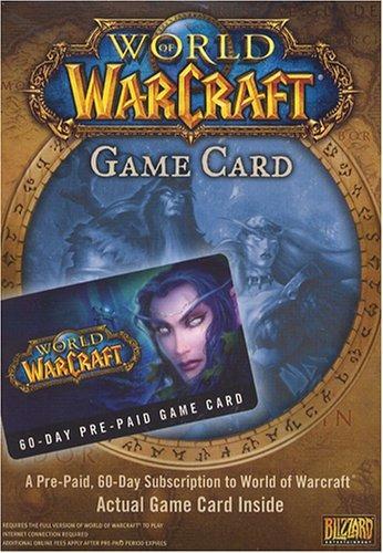 tarjeta de tiempo pre-pago world of warcraft 60 day - pc / m