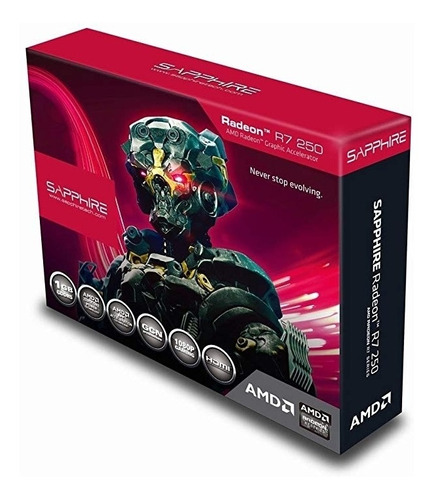 tarjeta de video amd r7 250 1gb gddr5 sapphire 128 bit