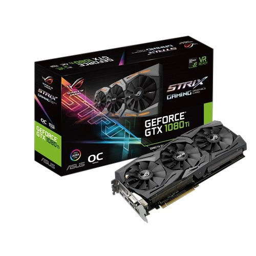 tarjeta de video asus gtx1080ti 11gb oc strix ddr5 gaming