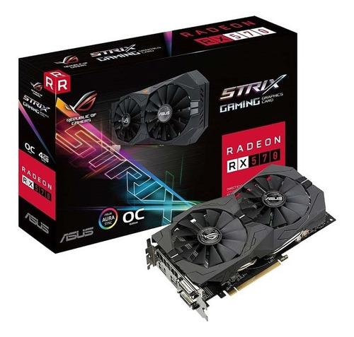 tarjeta de vídeo - asus rog strix rx 570 gaming 4gb oc