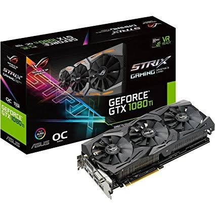 tarjeta de video asus strix gtx 1080ti oc 11gb | g-sync |
