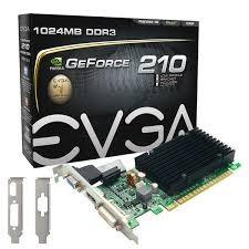 tarjeta de video evga 210 geforce nvidia 1gb/64bit