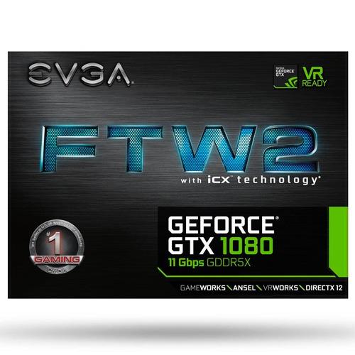 tarjeta de vídeo evga evga geforce gtx 1080 ftw2 8gb gaming