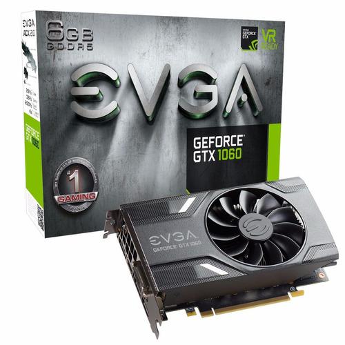 tarjeta de video evga gtx 1060 sc 6gb ddr5 nvidia gamer