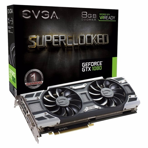 tarjeta de video evga nvidia geforce gtx 1080, 8gb, 256-bit