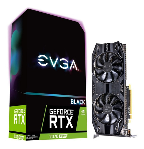 tarjeta de video evga rtx 2070 super ddr6 black gaming 8gb
