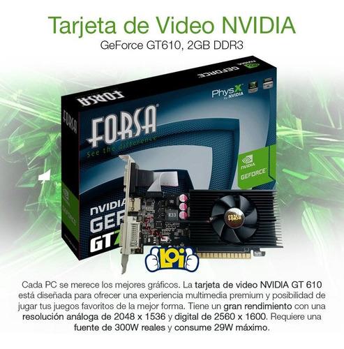 tarjeta de video forsa geforce gt610 2gb ddr3 64bit loi