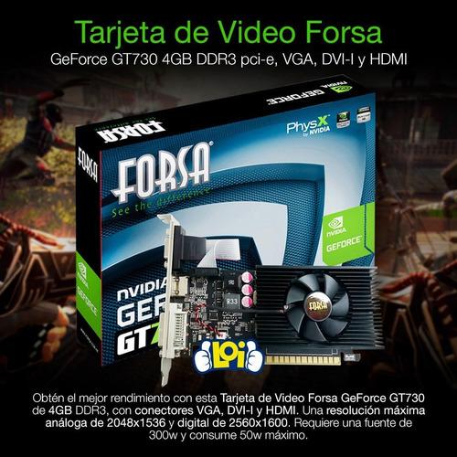 tarjeta de video forsa geforce gt730 4gb ddr3 128bit loi