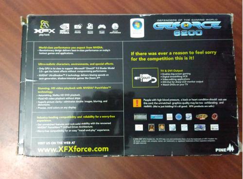 tarjeta de video gforce 6200 de 256mb agp ddr2