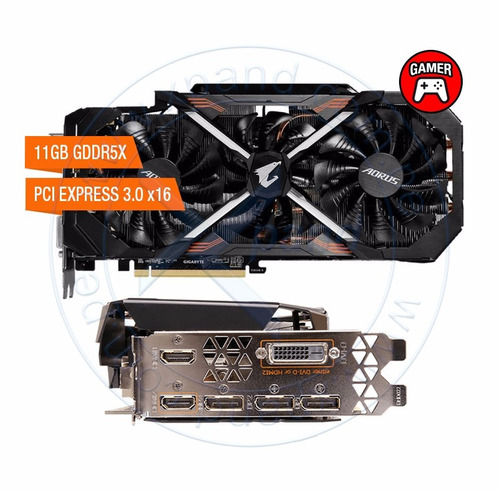 tarjeta de video gigabyte aorus nvidia geforce gtx 1080 ti,