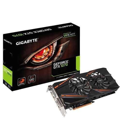 tarjeta de video gigabyte gtx1070 8gb hdmi/dp/dvi wf oc 2x