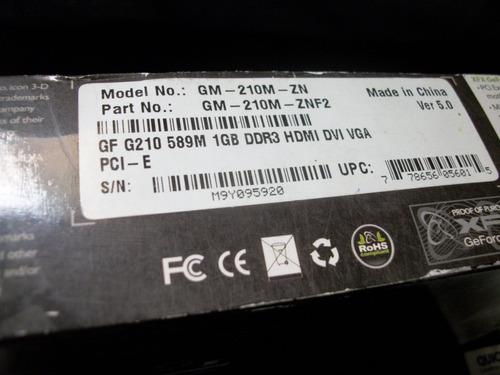 tarjeta de video gt 210 1gb ddr3 nvidia geforce para reparar