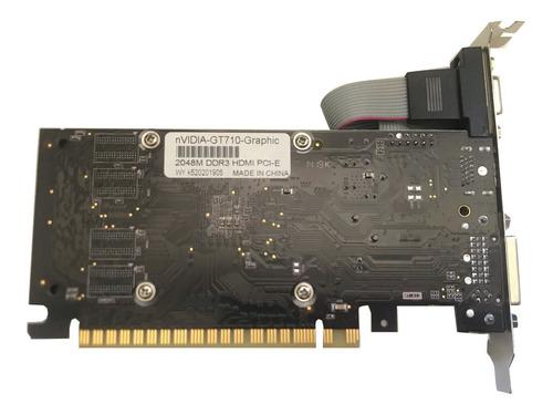 tarjeta de video modelo  gt710 2048mb 2gb ddr3 hdmi pci e