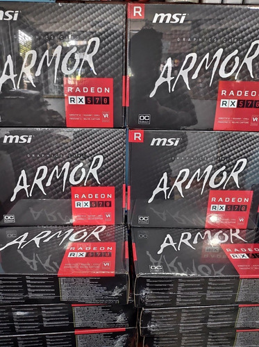 tarjeta de video msi amd radeon rx 570 armor, 8gb, gddr5