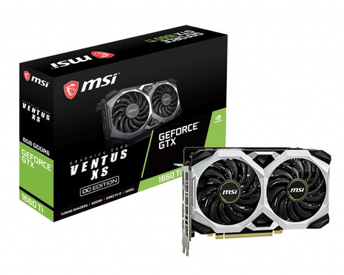 tarjeta de video msi gaming geforce gtx 1660 ti ventus xs oc