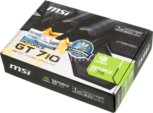 tarjeta de video msi geforce gt 710 nvidia 1gb ddr3 pci-e hd