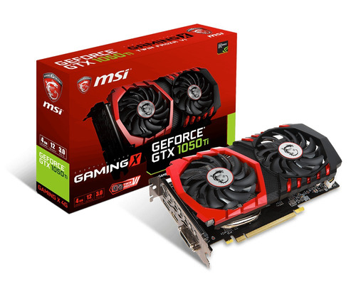 tarjeta de vídeo msi geforce gtx 1050 ti gaming x 4gb gddr5