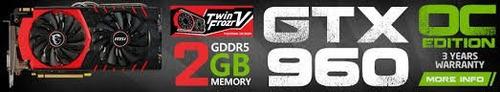 tarjeta de video msi gtx960