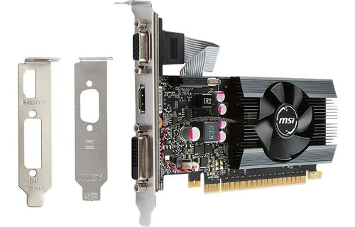 tarjeta de video msi nvidea geforce gt-710, 2gb, ddr3 64 bit