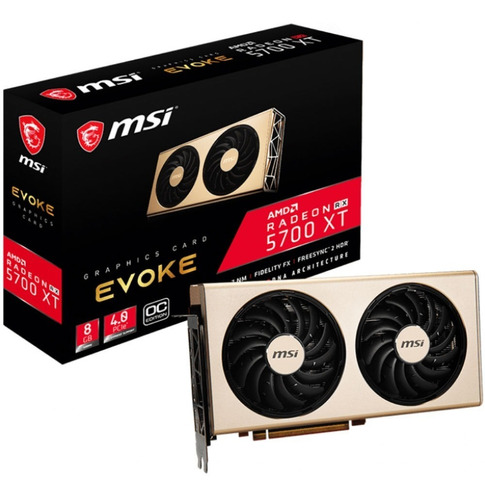 tarjeta de video msi radeon rx 5700 evoke oc 8gb ddr6 tranza