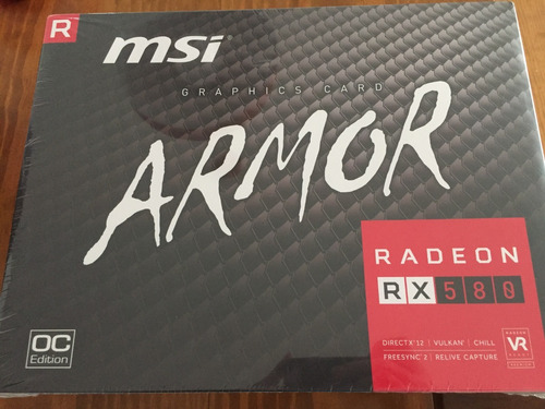 tarjeta de video msi radeon rx 580 armor 8gb gddr5 256 bits