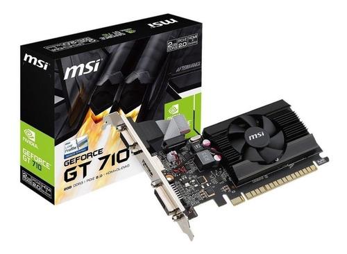tarjeta de video nvidia msi/gigabite/asus 710 2 gb ddr5
