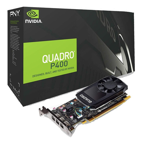 tarjeta de video pny quadro p400 v2 2gb, gddr5, 64bit