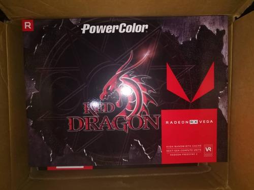 tarjeta de video rx vega 56 power color red dragon 8gb hbm2