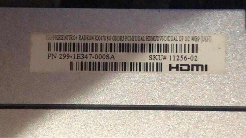 tarjeta de video saphire gddr5 8gb radeon para gamers
