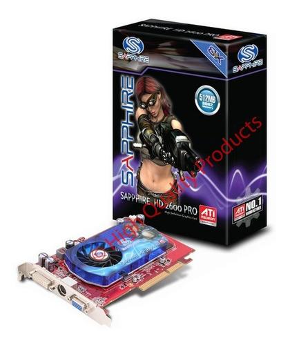 tarjeta de video sapphire hd2600 pro 512mb agp