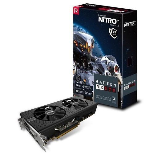 tarjeta de video sapphire nitro+ radeon rx 570, 4gb gddr5