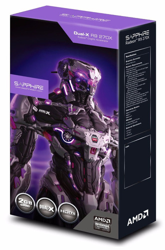 tarjeta de video sapphire radeon r9 270x 4gb oc 11217-04-20g