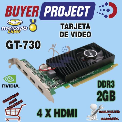 tarjeta de video tita nvidia gt730 2gb ddr3 4 hdmi pci-e x16