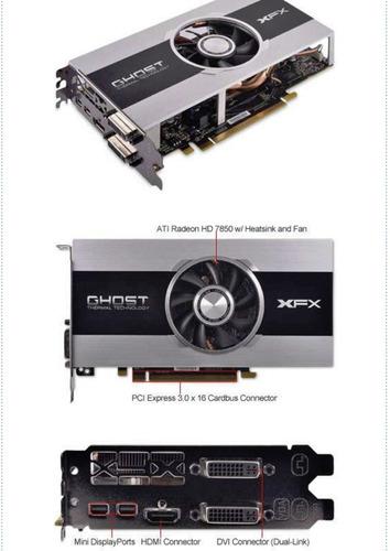 tarjeta de video xfx radeon hd 7850 - para juegos