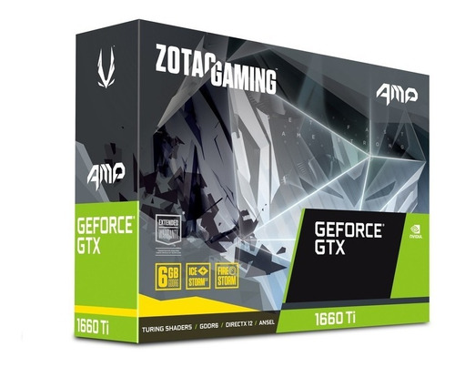 tarjeta de video zotac gaming geforce gtx 1660 ti amp 6gb
