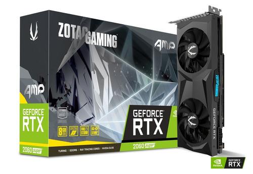 tarjeta de video zotac gaming geforce rtx 2060 super amp