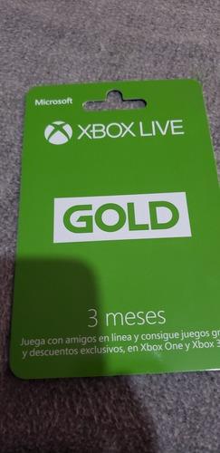 tarjeta de xbox live gold 3 meses