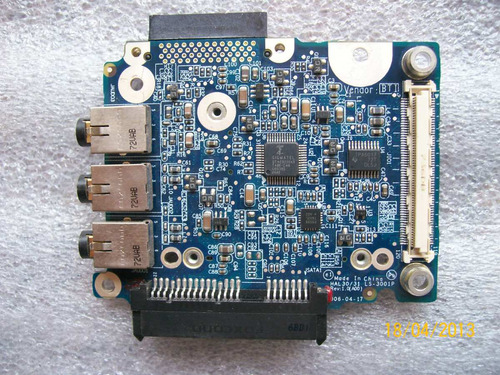 tarjeta del panel audio para dell xps m1210 mod. pp11s   au1