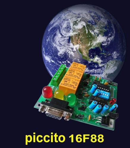 tarjeta desarrollo piccito 16f88 3 relevadores