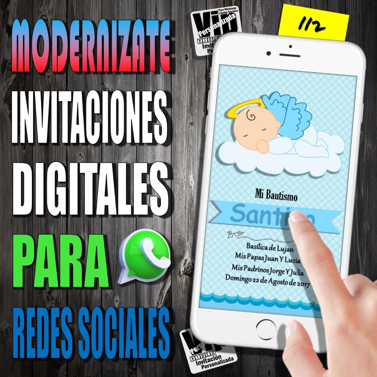 Tarjeta Digital 112 Bautismo Comunion Angelitos
